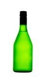 Eine Glasflasche getrennt auf weißem Hintergrund stockfoto