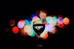Eine Glasreflexion Boke Stockfotografie