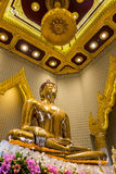 Eine Gold-Buddha-Statue, Bangkok, Thailand Lizenzfreie Stockfotografie