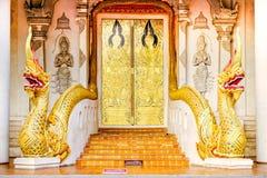 Eine goldene Tür Lizenzfreie Stockfotos