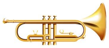 Eine goldene Trompete lizenzfreie abbildung