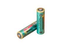 Eine grüne Batterie lizenzfreies stockbild