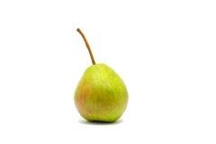 Eine grüne Birne lokalisiert auf weißem Hintergrund Lizenzfreies Stockbild