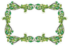 Eine grüne Grenze Stockfoto