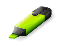 Eine grüne Markierung vektor abbildung