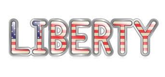 Freiheits-Fahne Lizenzfreie Stockbilder