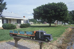 Eine große Anlage-LKW-Mailbox Stockbilder
