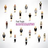 Eine große Gruppe Geschäftsfrauversammlungsdesign Lizenzfreie Stockbilder