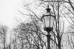 Eine große Laterne im historischen Monument Stadt Parks Stockbilder