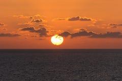 Eine große Lochsonne stockbild