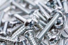 Eine große Sammlung verschiedene Eisen-Schrauben und Bolzenmuttern #3 Stockfotografie