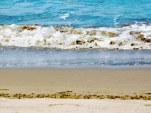 Eine große Welle auf der Meer-` s Küste stockbild