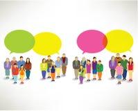 Eine große Gruppe von Personenen-Versammlung zusammen Lizenzfreie Stockbilder