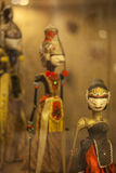 Eine Gruppe der indonesischen Schattenmarionette, Wayang Stockfotos