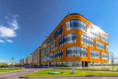 Eine Gruppe Geschäftsgebäude Stockfotos