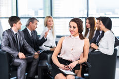 Eine Gruppe Geschäftsmänner Stockbilder