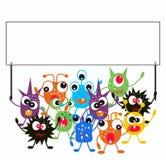 Eine Gruppe Monster Lizenzfreie Stockbilder