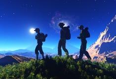 Eine Gruppe Touristen vektor abbildung