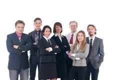 Eine Gruppe von sieben jungen Geschäftsleuten stockfoto
