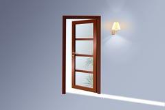 Eine hölzerne Tür Stockfoto