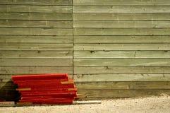 Eine hölzerne Wand Stockbilder