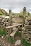 Eine hügelige Landschaft in Staffordshire, England mit einer Art als Schwerpunkt Lizenzfreies Stockbild