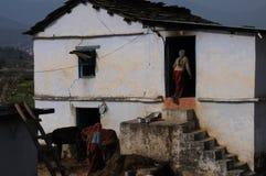 Eine Hütte bei Kausani, Indien stockbild
