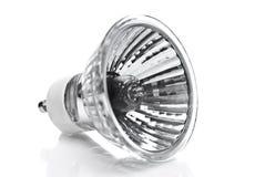 Eine Halogenbirne/eine Lampe auf einem Weiß Stockfotografie