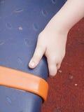 Eine Hand bereit zu drücken lizenzfreie stockbilder