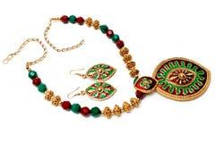 Eine Hand-crafted Halskette lizenzfreie stockbilder