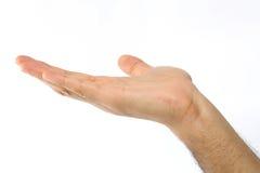 Eine Hand heraus anhalten Lizenzfreies Stockfoto