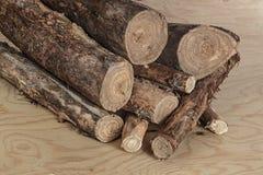 Eine Handvoll unclosed Brennholz, zum des Feuers zu stützen Lizenzfreie Stockbilder