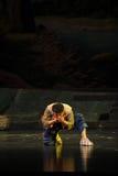 Eine Handvoll wasser- Jiangxi-Oper eine Laufgewichtswaage Stockfoto