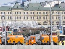 Eine Hauptprobe für die Victory Day-Parade Lizenzfreie Stockbilder
