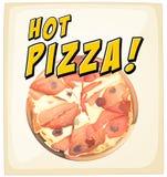 Eine heiße Pizza Lizenzfreies Stockbild