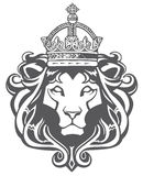 Heraldischer Löwe-Kopf stock abbildung
