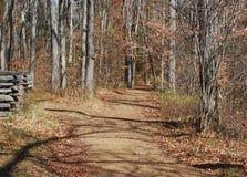 Eine Herbst-Spur Stockfotos