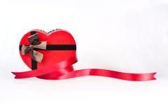 Eine Herzformgeschenkbox Lizenzfreie Stockfotos