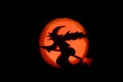 Eine Hexe und der Mond Lizenzfreies Stockfoto