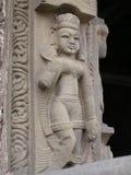Eine hindische Göttin, die Shiva Temple in Kangra, Indien schmückt Lizenzfreie Stockfotos