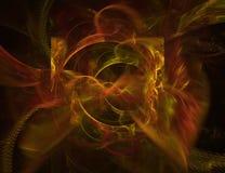 Eine Hintergrundauslegung auf Schwarzem mit vibrierenden Farben kann mit Farbe justiert werden und gesessen werden Stockfotos