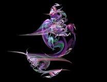 Eine Hintergrundauslegung auf Schwarzem mit vibrierenden Farben kann mit Farbe justiert werden und gesessen werden Stockfoto