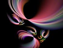 Eine Hintergrundauslegung auf Schwarzem mit vibrierenden Farben kann mit Farbe justiert werden und gesessen werden Stockbild