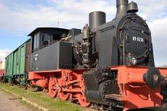 Eine historische Dampflokomotive Stockfotos