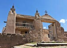 Eine historische Kirche, San José de Gracia, in Las Trampas Stockbilder