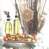 Eine Hochebene von Gemüsetapas lizenzfreies stockfoto