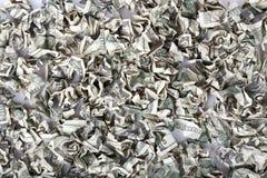 Quetschverbundener Bargeld-Hintergrund Lizenzfreie Stockfotografie