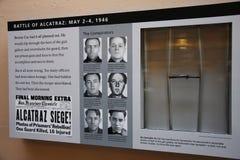 Eine homeade Stabspreizer in Alcatraz stockfotos