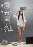 Eine ideale Hauswirtschaftsleiterin Lizenzfreies Stockfoto