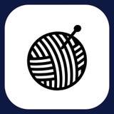 Eine Ikone für handgemachte Waren stock abbildung
